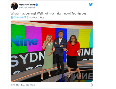 Channel Nine tweet